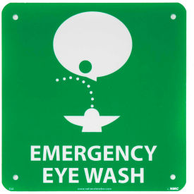 Graphic Facility Signs - Emergency Eye Wash - Plastic 7x7