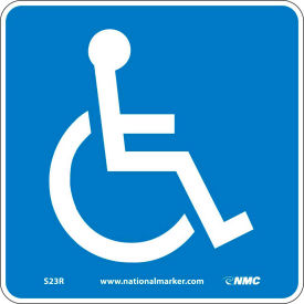 Graphic Facility Signs - Handicapped Logo - Plastic 7x7
