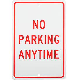 "Aluminum Sign - No Parking Anytime - .063"" Thick, TM2H"