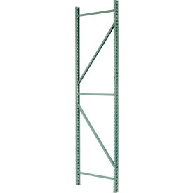 "Interlake Mecalux Pallet Rack Tear Drop Upright Frame 42""D x 192""H"