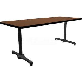 "Allied Plastics Lunchroom Table - 72"" x 36"" - Walnut"