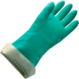 Flock Lined Large Nitrile Gloves - 22 Mil Size 9 - 1 Pair