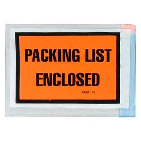 Opaque Orange Shipping Envelope - Packing List Enclosed - Box of 1000