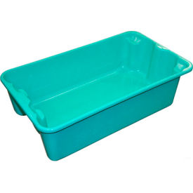 """Molded Fiberglass Nest and Stack Tote 780208 - 17-7/8"""" x10""""-5/8"""" x 5"""",Green - Pkg Qty 12"""
