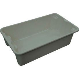 "Molded Fiberglass Toteline Nest and Stack Tote 780208 - 17-7/8"" x10""-5/8"" x 5"" Gray - Pkg Qty 12"