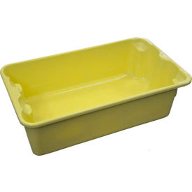 "Molded Fiberglass Nest and Stack Tote 780208 - 17-7/8"" x10""-5/8"" x 5"" Yellow - Pkg Qty 12"