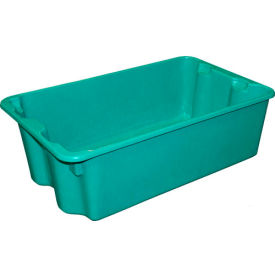 "Molded Fiberglass Nest and Stack Tote 780508 - 24-1/4"" x 14-3/4"" x 8"" Green - Pkg Qty 10"