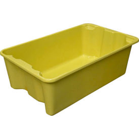 """Molded Fiberglass Nest and Stack Tote 780508 - 24-1/4"""" x 14-3/4"""" x 8"""", Yellow - Pkg Qty 10"""