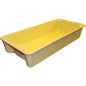 """Molded Fiberglass Nest and Stack Tote 780108 with Wire - 42-1/2"""" x 20"""" x  7-1/2"""", Pkg Qty 5, Yellow - Pkg Qty 5"""