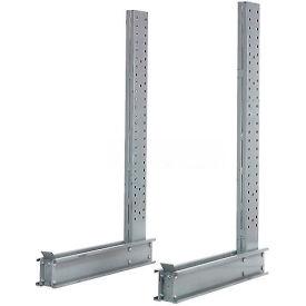 """Cantilever Rack simple face verticale Heavy Duty (série 3000-5000), 3"""" D x 8' H, 21500 Lbs capacité"""