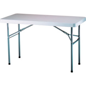 "Lifetime® Adjustable Height Folding Table 48""L x 24""W x 24 to 36""H - White"