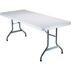 "Lifetime® Portable Folding Table 72"" - White Granite"