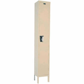 Hallowell UY1888-1A- Maintenance-Free Quiet Locker Single Tier 18x18x72 - 1 Door Assembled - Tan