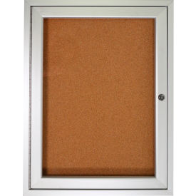 "Ghent® Bulletin Board One Door - 36""W X 36""H"