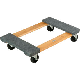 Hardwood Dolly with Carpeted Deck Ends 30 x 18 1000 Lb. Capacity
