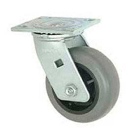 """Faultless Swivel Plate Caster 493-3 3"""" TPR Wheel"""