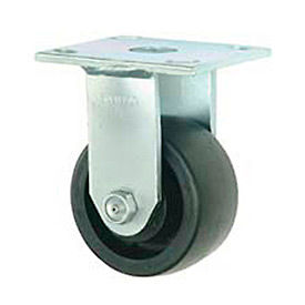 "Faultless Rigid Plate Caster 7760S-5 5"" Polyolefin Wheel"