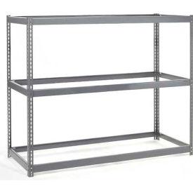 "Wide Span Rack 48""W x 24""D x 60""H With 3 Shelves No Deck 1200 Lb Capacity Per Level"