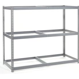 "Wide Span Rack 72""W x 36""D x 60""H With 3 Shelves No Deck 900 Lb Capacity Per Level"