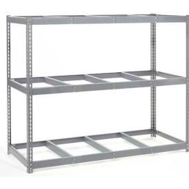 "Wide Span Rack 96""W x 36""D x 84""H With 3 Shelves No Deck 800 Lb Capacity Per Level"