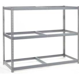"Wide Span Rack 60""W x 48""D x 84""H With 3 Shelves No Deck 1200 Lb Capacity Per Level"