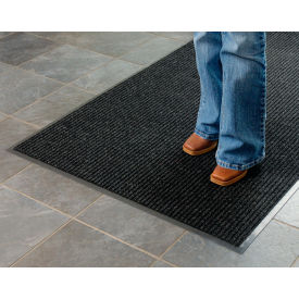 "Apache Mills Brush & Clean™ Entrance Mat 3/8"" Thick 3' x 10' Charcoal"