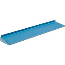 Tablette en porte-à-faux pour montants d'établi, 48 po l x 12 po P. bleu