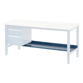 "72""W Lower Shelf For Bench - 15""D- Blue"