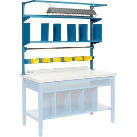 """72""""W Riser Kit With Dividers, Shelves & LED Light Kit"""