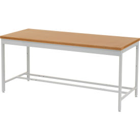 """72""""W x 36""""D Euro Style Production Workbench - Shop Top Square Edge - Gray"""