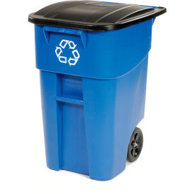 Rubbermaid® Brute Recycling Rollout Container 50 Gallon, Rubbermaid 9W27-73