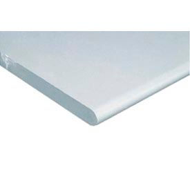 "60"" W x 30"" D x 1-1/4"" Thick, ESD Safety Edge Workbench Top, White"