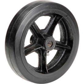 "10"" x 2-1/2"" Mold-On Rubber Wheel - Axle Size 3/4"""