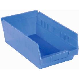 "Akro-Mils Plastic Shelf Bin Nestable 30130 - 6-5/8""W x 11-5/8""D x 4""H Blue - Pkg Qty 12"