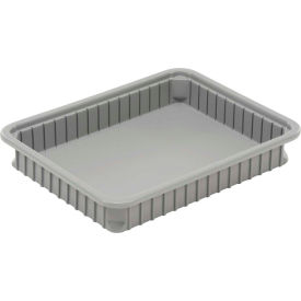 "Dandux Dividable Stackable Plastic Box 50P0114042 - 22-1/2""L x 17-1/2""W x 4-1/4""H, Gray"