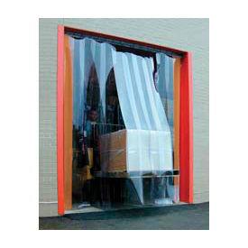 Standard Grade Smooth Clear Strip Door Curtain 7'W x 9'H
