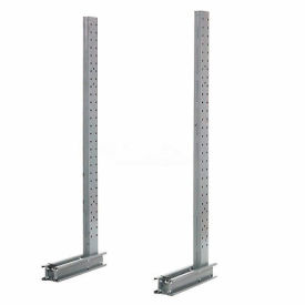"Cantilever Rack Single Sided Upright (1000 Series), 45"" D x 10' H, 4400 Lbs Capacity"