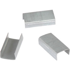 """Open Steel Strapping Seals, For Use With 1/2"""" W Steel Strapping Tools - 2,500 Pack"""