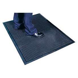 "NoTrax® Comfort-Eze™ Anti Fatigue Mat 3/8"" Thick 2-1/2' x 5' Black"