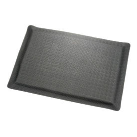 "Diamond Plate Ergonomic Mat 15/16"" Thick 24"" Wide Black Up to 75ft."