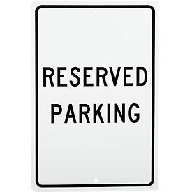 "Aluminum Sign - Reserved Parking - .063"" Thick, TM5H"
