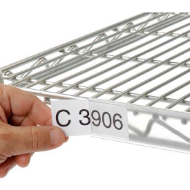 """Clear Label Holder for Wire Shelf 1-1/4""""H x 24""""W with Paper Insert"""