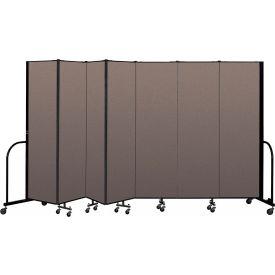 "Screenflex Portable Room Divider 7 Panel, 6'8""H x 13'1""L, Fabric Color: Oatmeal"