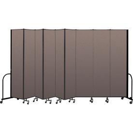 "Screenflex Portable Room Divider 9 Panel, 8'H x 16'9""L, Fabric Color: Oatmeal"