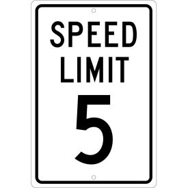 "Aluminum Sign - Speed Limit 5 - .063"" Thick, TM17H"