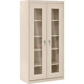 Sandusky Clear View Storage Cabinet CA4V361872 -36x18x72, Putty