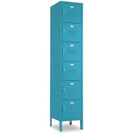 Penco 68201X806KD VanGuard Locker Six Tier 12x15x12 6 Doors Ready To Assemble Marine Blue