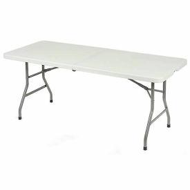 6' Fold in Half Table - White