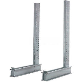 "Cantilever Rack Single Sided Upright, 50"" D x 14' H, 9800 Lbs Capacity"