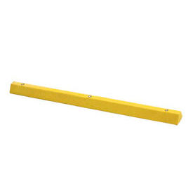 "Yellow Parking Curb with Hardware 72""L x 4""H x 6""W"